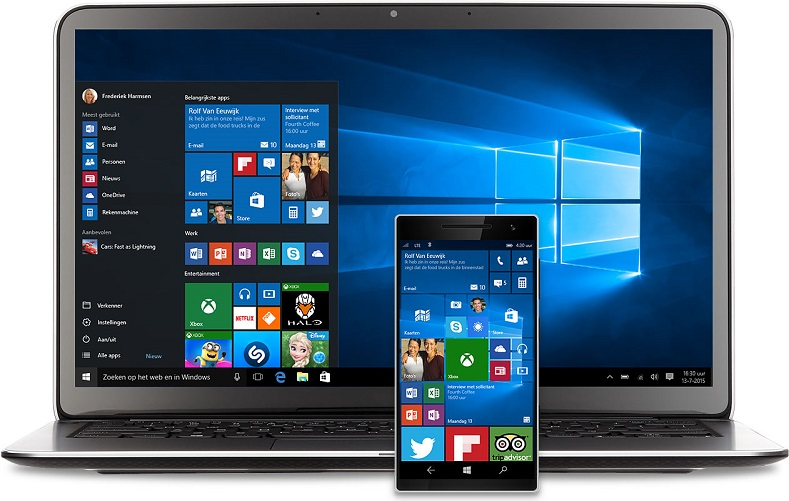 Windows 10 Computer En Smartphone